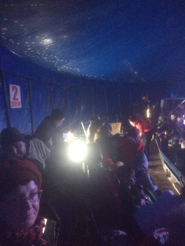 В шапито Усть-Илимска под зрителями обрушилась трибуна