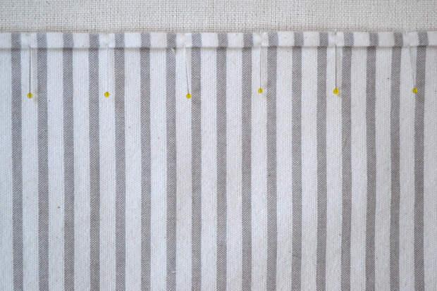 Как обвязать ткань пряжей (18)