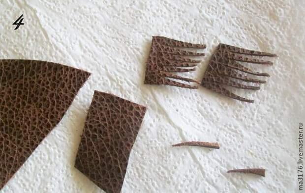 Делаем белые лилии для туфелек