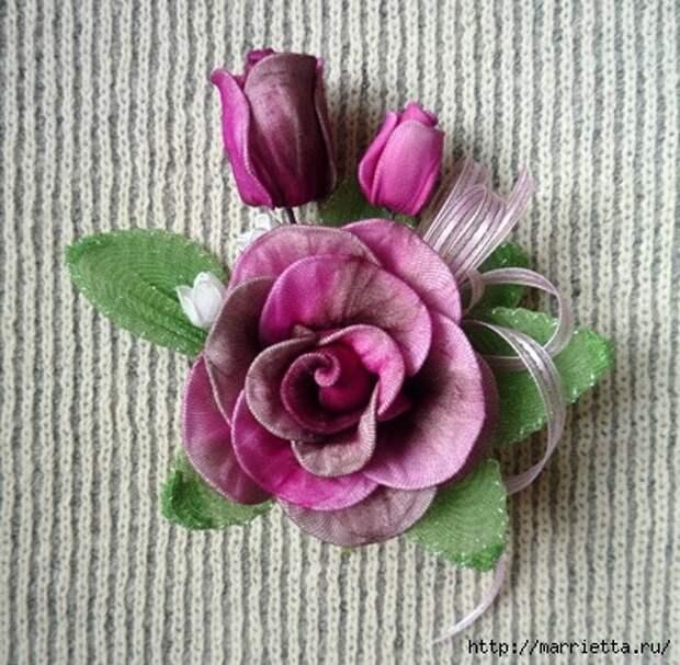 Розы из капрона. Красивые идеи и мастер-класс (30) (403x395, 161Kb)