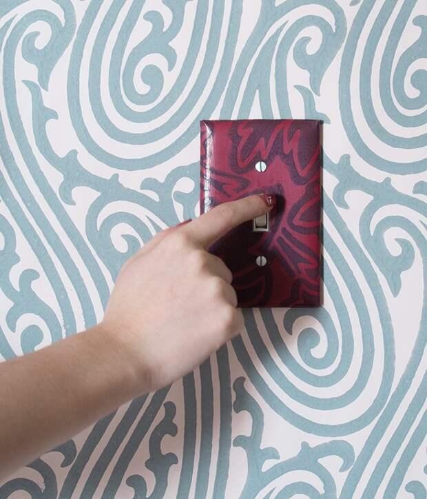 Декорируем выключатель (Diy)