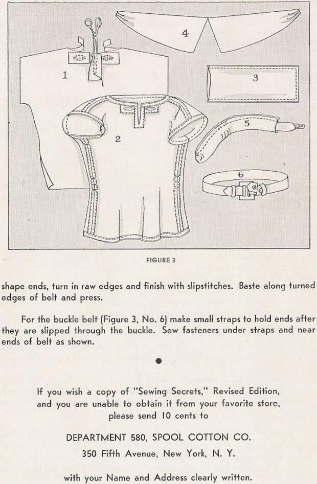 Выкройка блузки (ретро)