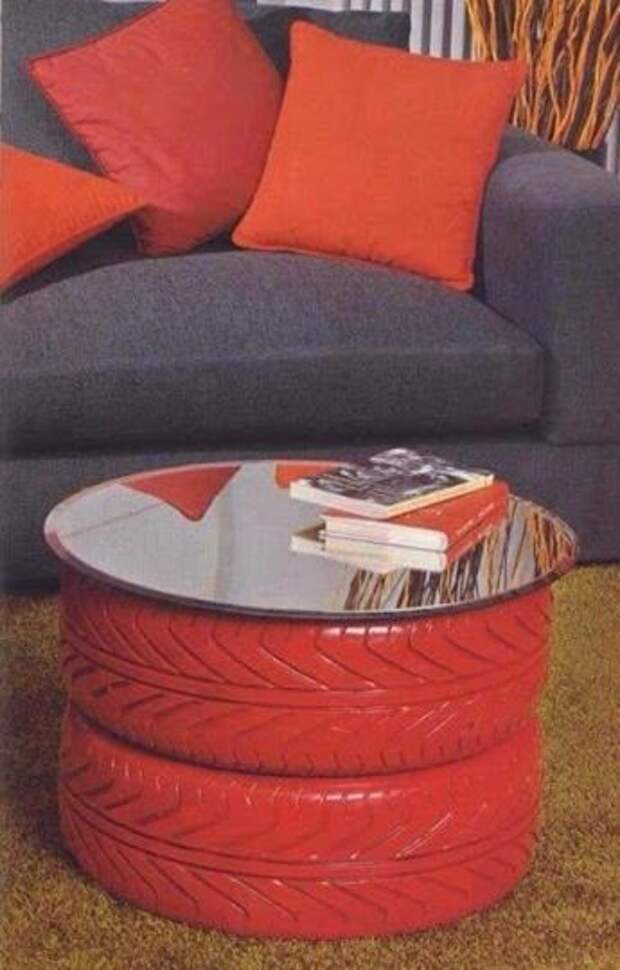 Вторая жизнь покрышек  декор, мебель, покрышки