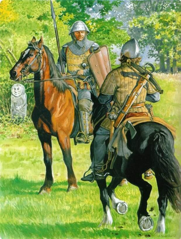 Художественные реконструкции внешнего вида орденских войск.