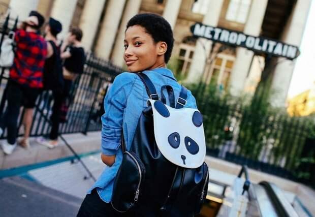 Рюкзаки на модных улицах города