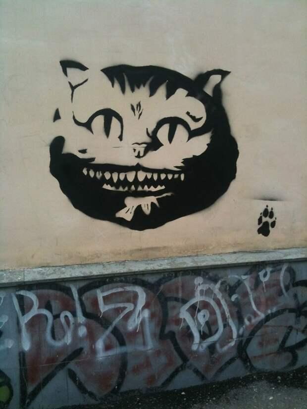 Работы единственного уличного художника Чечни.