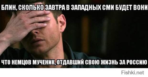 Хватит жевать сопли про Немцова! Его постигла Немезида