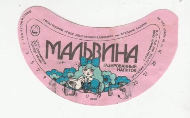 Основной составляющей газированного напитка «Мальвина» была малина / Фото: auction.ru