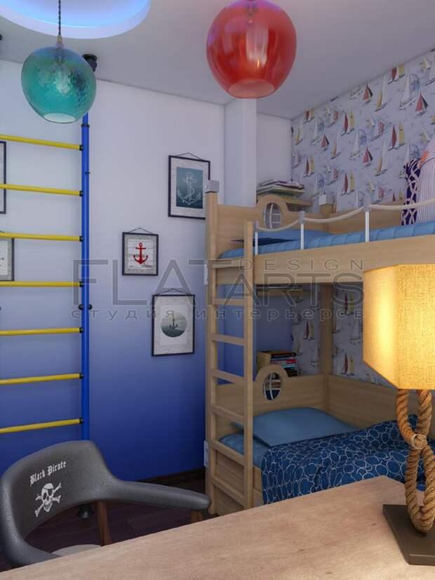 Детская для двух мальчиков, двухъярусная кровать для детей