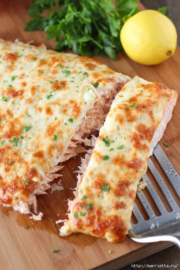 Запеченный лосось под сырной шубкой (9) (466x700, 287Kb)