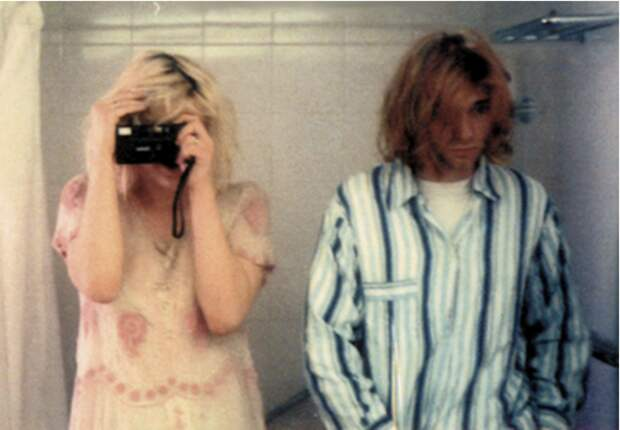 Курт Кобейн и Кортни Лав, музыканты, 1992 звезды, люди, фото