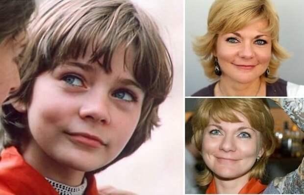 Наталья Гусева в роли Алисы Селезневой, 1984, и в наши дни | Фото: mirtv.ru, kinokomp.ru и coollib.com