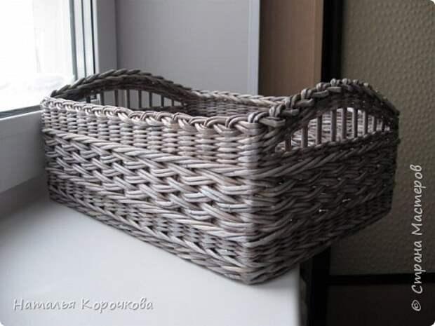 Поделка изделие Плетение Шитьё Корзинка для сушеных трав и еще кое-что Салфетки Ткань Трубочки бумажные фото 7