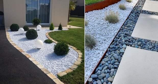 дизайн из камней в саду