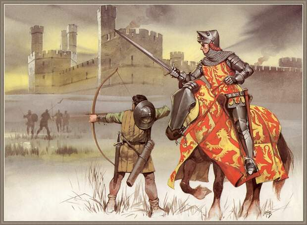 Битва при Харлоу: горцы против рыцарей