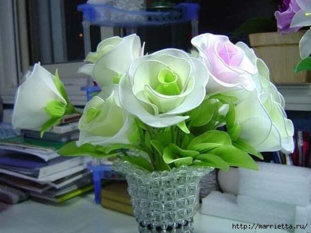 Розы из капрона. Красивые идеи и мастер-класс (47) (496x373, 120Kb)