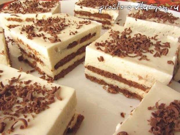 Торт из печенья за 20 минут и без выпечки