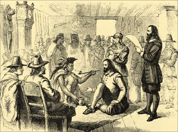 Рождение США: мудрость Карвера, добро Сквонто и голова Метакома