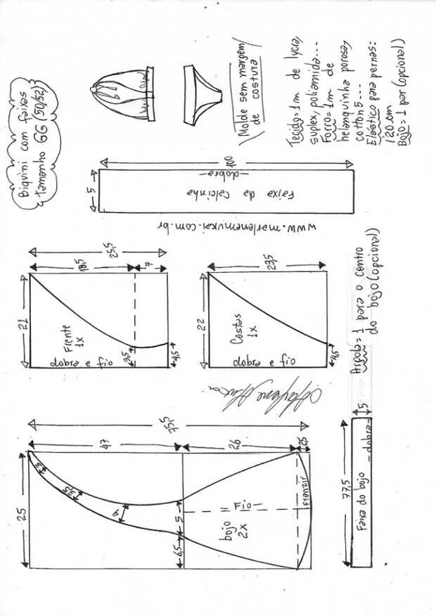 Выкройки купальника на большую грудь (подборка)