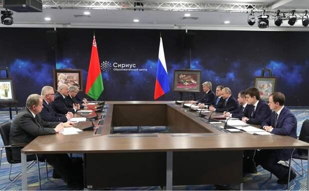 В Сочи состоялась российско-белорусская встреча на высшем уровне