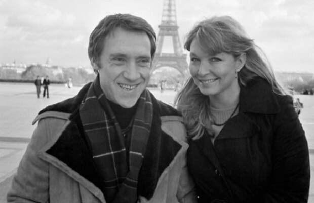 Владимир Высоцкий и Марина Влади в Париже, 1977 год.