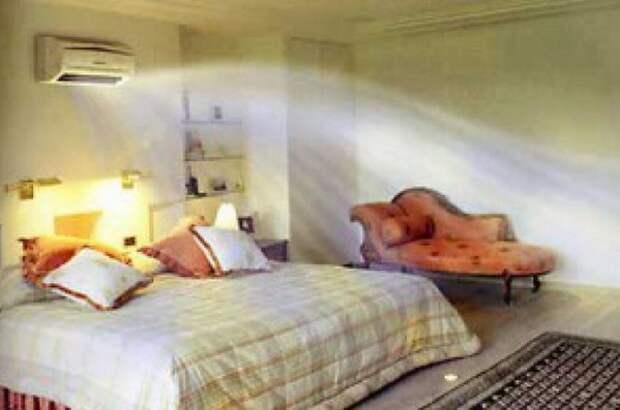 Спальня без окон дизайн, создать воздушный поток