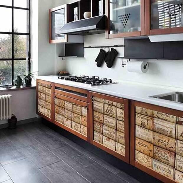 фотообои на кухонных шкафах