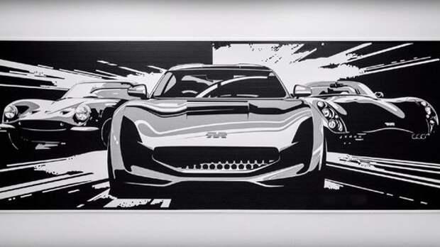 Дизайнеры TVR нарисовали скотчем новый спорткар