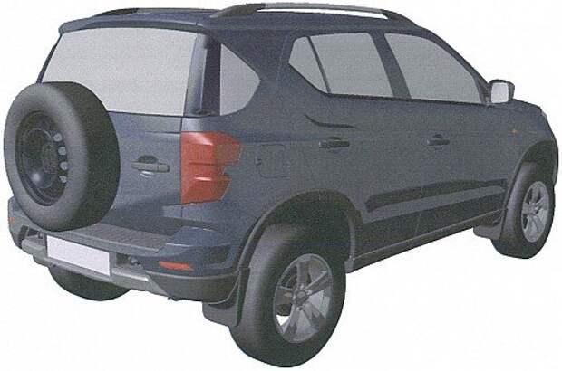 Опубликованы патентные изображения новой Chevrolet Niva