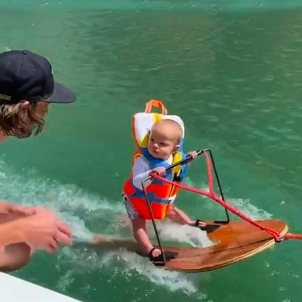 Это насилие над ребенком? Вчем обвиняют родителей, которые поставили малыша наводные лыжи