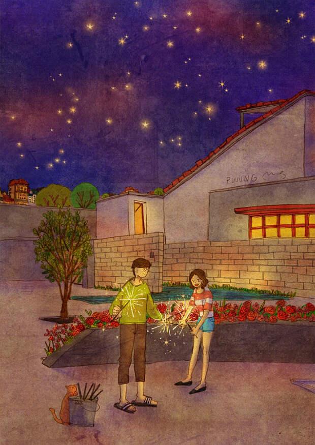 Тысяча мелочей, которые есть любовь. Трогательные акварели корейского художника