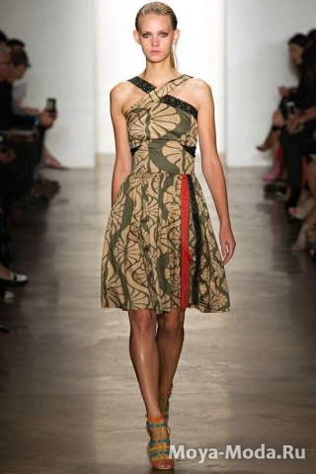 Модные сарафаны весна-лето 2015 Sophie Theallet