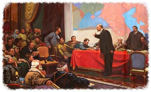 В.И.Ленин у карты ГОЭРЛО