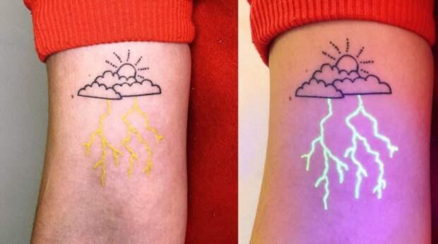 6 нереально клевых фото светящихся татуировок