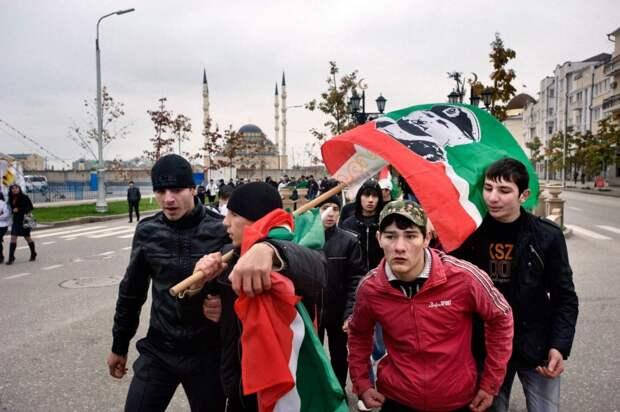 Члены патриотического клуба «Рамзан»