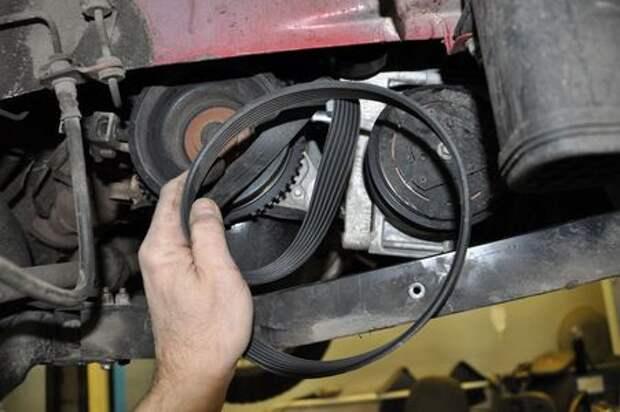 Lada Vesta: проверка и замена ремня привода вспомогательных агрегатов