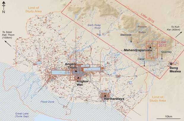 Затерянный город Кхмерской империи найден в Камбодже
