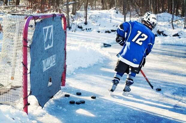 Хоккей На Льду, Хоккеист, Молодой, Зима, Льда, Наружные