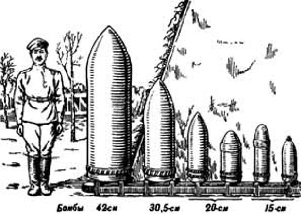 Такого размера были снаряды, которые падали на крепость