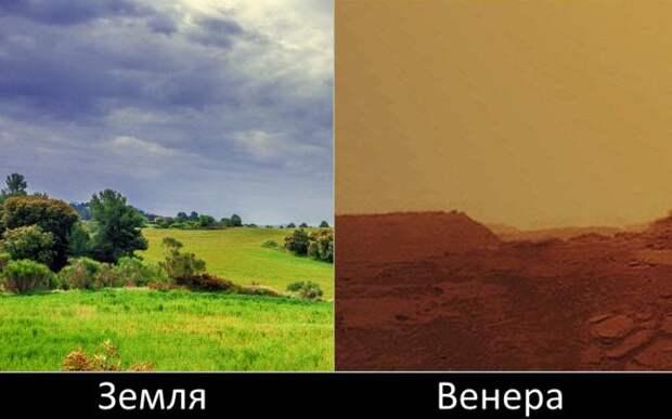 Вид с Венеры. Планета под одеялом. Кислотный ад желто–бурого цвета со странными двухглазыми антициклонами на полюсах