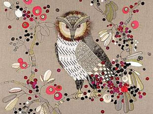 Уникальные работы Louise Gardiner: необычное сочетание машинной вышивки, аппликаций и красок   Ярмарка Мастеров - ручная работа, handmade