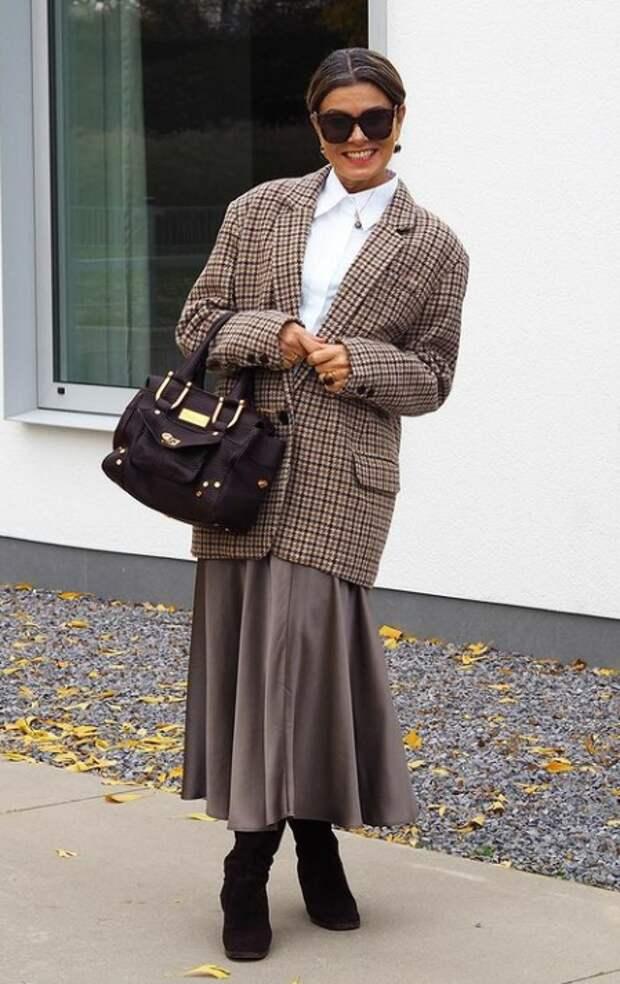 Сочетания в одежде, которые помогут сразить наповал всех. На примере модели за 50 лет