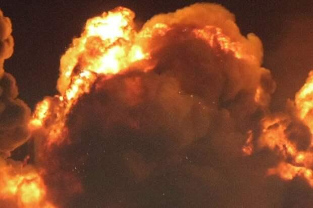 Неизвестные взорвали под Харьковом цистерну с топливом для армии