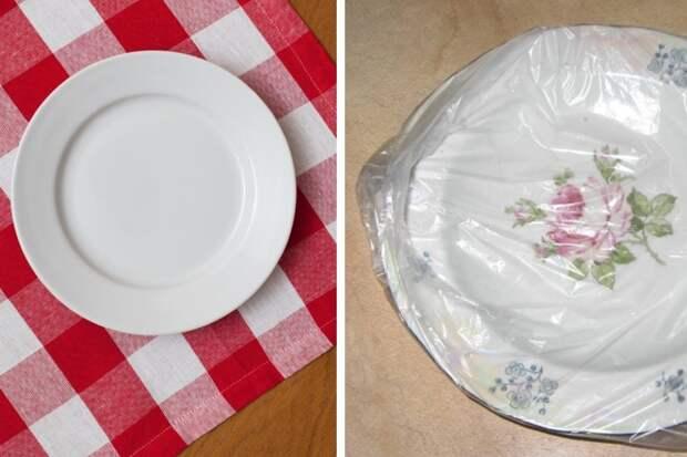 Зачем надевать пакеты на тарелки