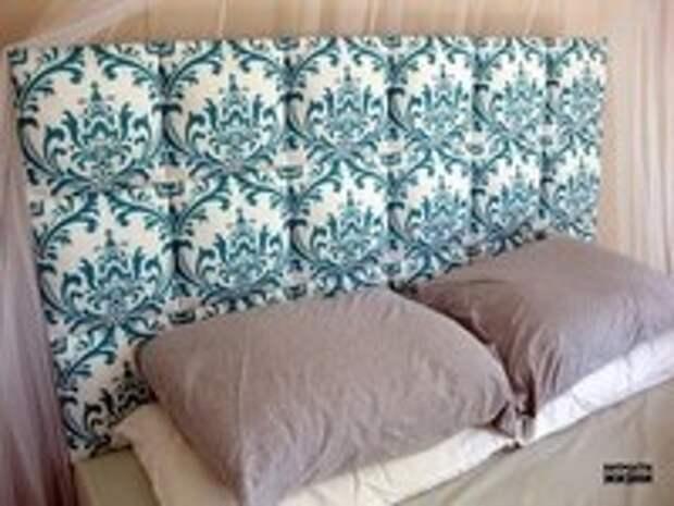 Как сделать мягкое изголовье кровати.