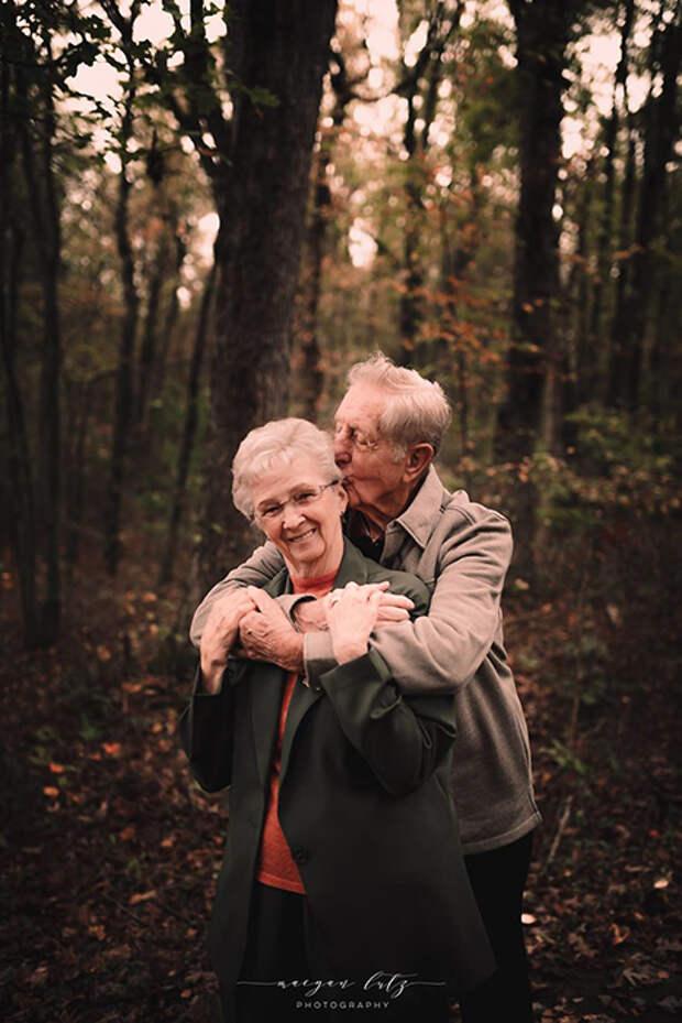 Искренняя любовь после 68 лет брака. Фото: Maegan Lutz.