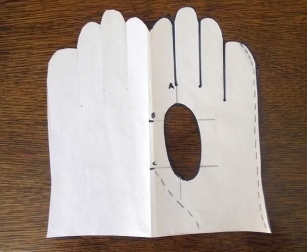 как сделать выкройку перчаток