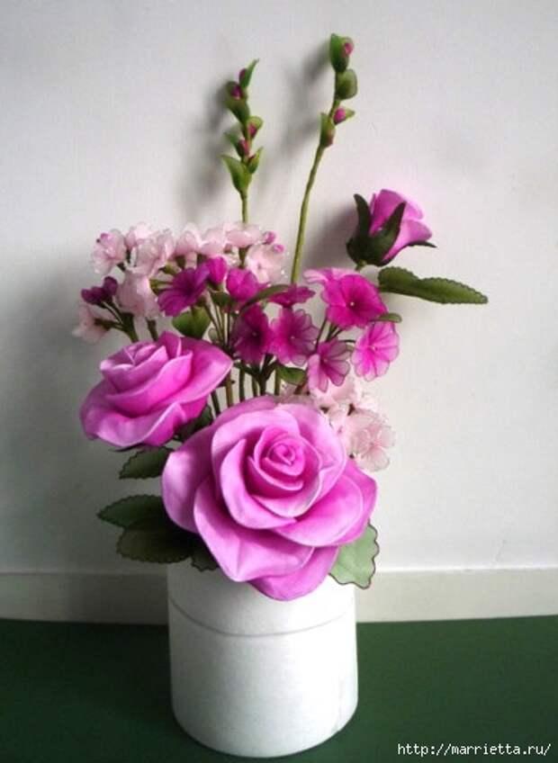 Розы из капрона. Красивые идеи и мастер-класс (49) (437x598, 128Kb)