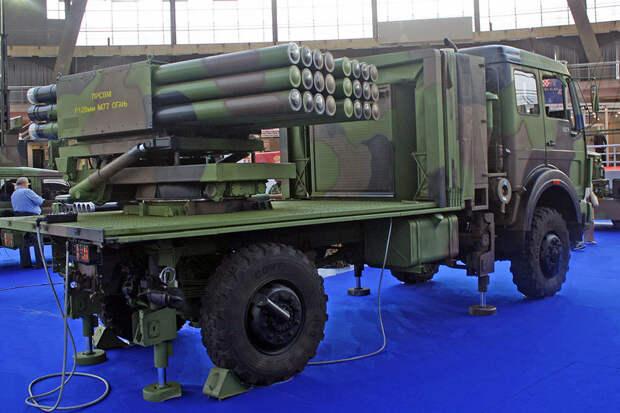 Новейшая реактивная установка из Сербии впервые замечена в Ливии