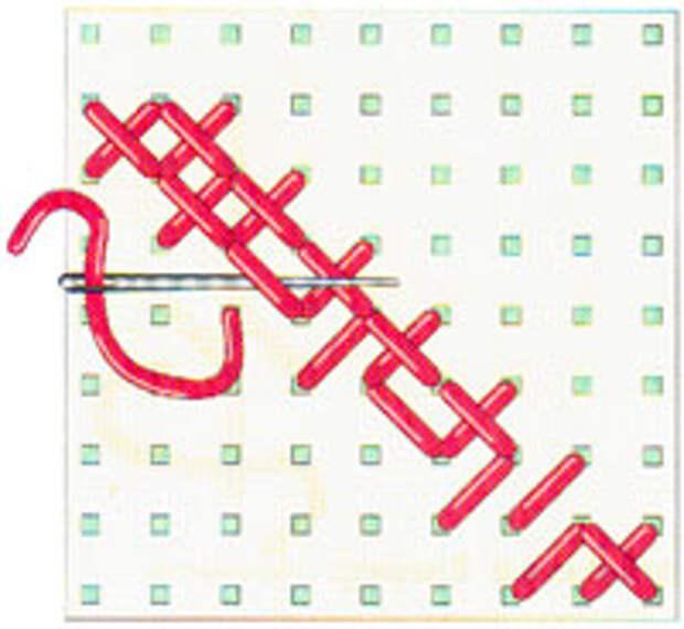 Вышивка крестиком по диагонали. Двойная диагональ справа налево (фото 14)
